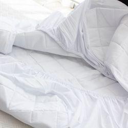 블럭 세미 누빔 패밀리 침대 매트리스 커버 220x200