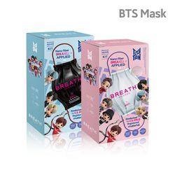 BTS 브레스실버 타이니탄 스퀘어마스크 7팩21매입 세트