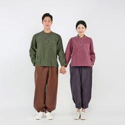 2534 [남녀공용] 심플 포켓 티셔츠+바지 세트 20수 순면 7색상