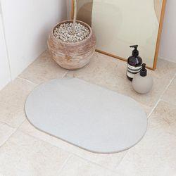 라운드 규조토 발매트 주방 욕실 화장실 현관 발닦개 L 2color