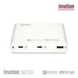 imation 3포트 노트북 충전기 S872B + GIFT 무선 충전기