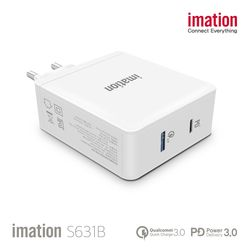 imation 2포트 노트북 충전기 S631B + GIFT 무선 충전기