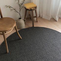 메이즈 원형 카페트 거실 사계절 러그 물세탁 150