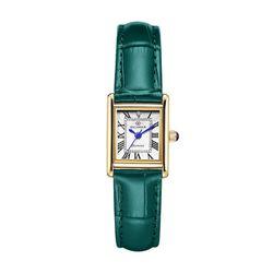 디유아모르 여성 가죽밴드시계 DAW6302L-GR 다이아몬드 시계