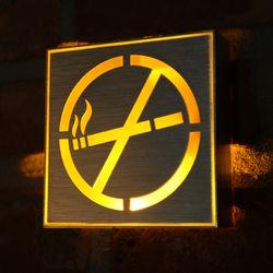 LED 금연구역 표시등 1W.
