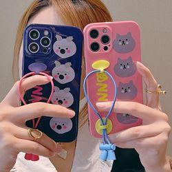 아이폰12 11 XR SE2 X 8 애니멀 고무줄 스트랩 케이스