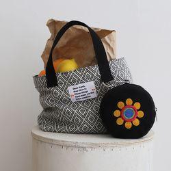 Summer tote bag (썸머 토트 백) black