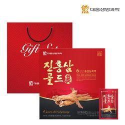 대웅생명과학 진홍삼골드 60포 1박스 쇼핑백포함