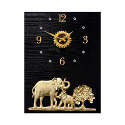 미니 코끼리와 황금나무 액자 시계 30 40