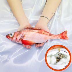 물고기 고양이 캣닢 장난감 용품 30cm (붉은동태)