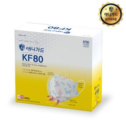 KF80 애니가드 공룡무늬 마스크 소형 50매 개별포장