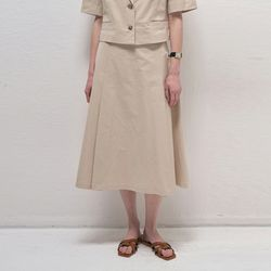 Charming A Line Skirts - Beige