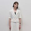 Charming Crop Single Jacket - Ivory