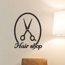 Hair shop 가위 미용실 표시 스티커 medium