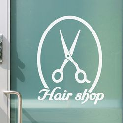 Hair shop 가위 미용실 표시 스티커 large