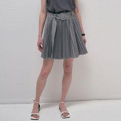 Adorable Pleats Mini Skirt - Gray
