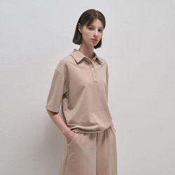 Pure Open Pique Shirt - Beige
