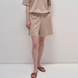Pure Banding Shorts - Beige