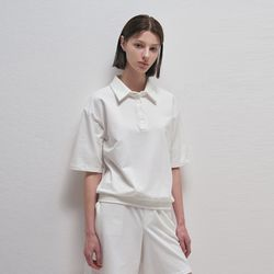 Pure Open Pique Shirt - White