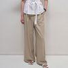 Slop Wide Pants - Khaki