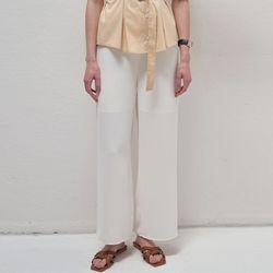 Cozy Wide Pants - White