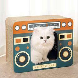 고양이 가전제품 스크래처 라디오 하우스 숨숨집