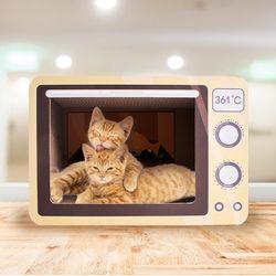 고양이 가전제품 스크래처 전자레인지 하우스 숨숨집