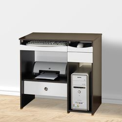 카디날 800 컴퓨터책상 웬지화이트