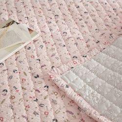 블루밍 시어서커 미끄럼방지 여름누빔패드SS 핑크