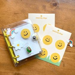 리무버블 스마일 스티커 5장세트 10종 선물 포장 다꾸