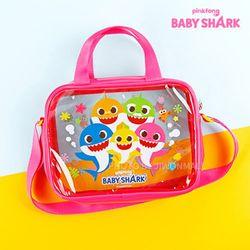 핑크퐁 아기상어 사각 비치크로스-핑크