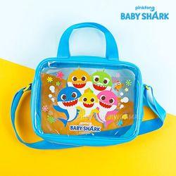 핑크퐁 아기상어 사각 비치크로스-블루