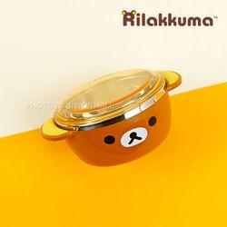 NEW 리락쿠마 뚜껑 스텐공기-브라운