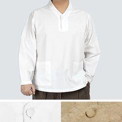 2237 [멋찐남자] 원버튼 v넥 티셔츠 20수 순면 2색상