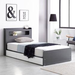프레드 LED 3단 수납형 침대 슈퍼싱글+독립 매트리스