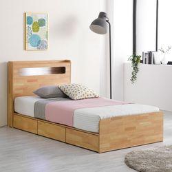 프레드 LED 3단 수납형 침대 슈퍼싱글+본넬 매트리스
