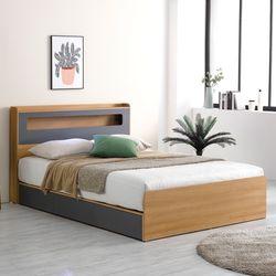 프레드 LED 수납형 침대 퀸+독립볼라텍스 매트리스