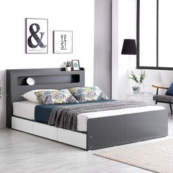 프레드 LED 3단 수납형 침대 퀸Q+독립 매트리스