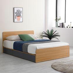 프레드 헤드 수납형 침대 퀸Q+독립볼라텍스 매트리스