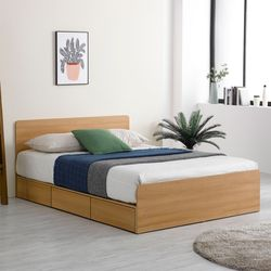 프레드 헤드 수납형 침대 퀸Q+독립라텍스 매트리스