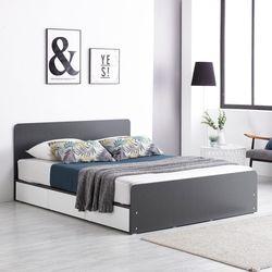 프레드 헤드 3단 수납형 침대 퀸Q+독립 매트리스