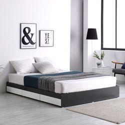 프레드 3단 수납형 침대 퀸Q+독립 매트리스