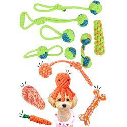 강아지 장난감 소형견 이갈이 치실 터그놀이 공놀이 로프
