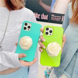 아이폰12 11 PRO MAX SE2 8 백장미 그립톡 젤리케이스