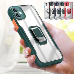 아이폰12 11 PRO MAX X 8 배색버튼 핑거링 투명케이스
