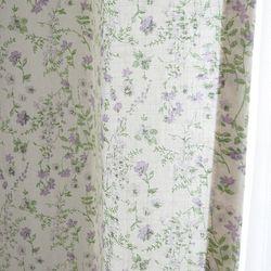 퍼플레인 꽃무늬커튼 린넨 가리개 - L사이즈