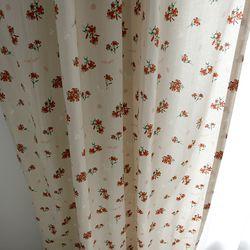 샤로떼 꽃무늬 방커튼 -M사이즈(가리개 아이방 주방커튼)