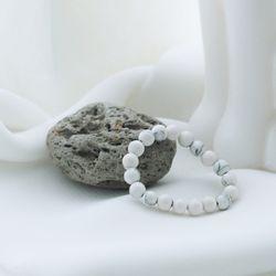 마블 천연 원석 비즈 반지 완제 하울라이트 스톤