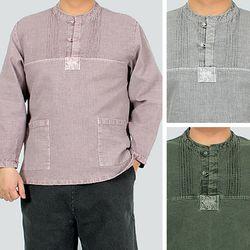 1589 [멋찐남자] 캐주얼 티셔츠 도비면 4색상