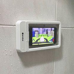 화장실 핸드폰거치대 욕실 방수 아이폰 갤럭시 거치대